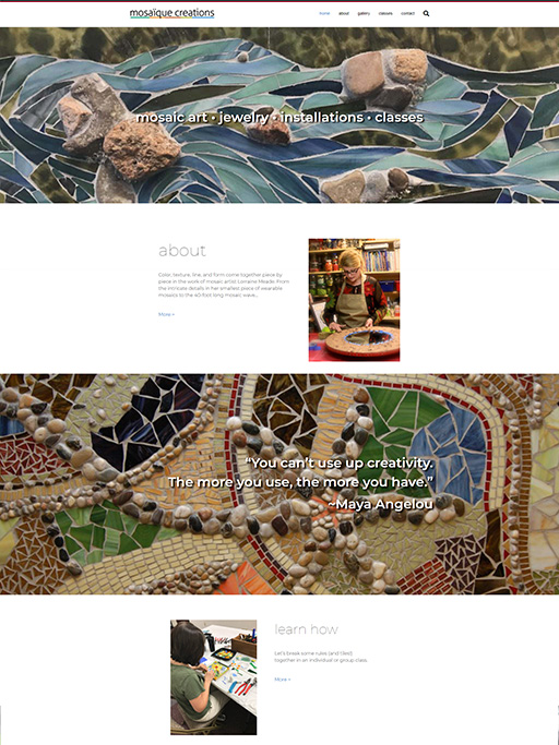 Home page photo Mosaique Creations